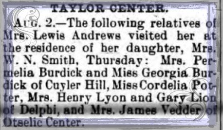 connie ward girl with a past genealogy blog Potter newspaper