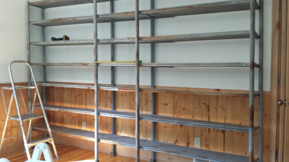Shelving all finished - ready to load