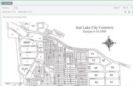 Salt Lake City Cemetery Map