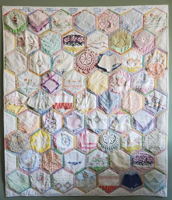 connie ward girl with a past blog genealogy family history heirlooms pillowcases vintage linens Elaine Shuman doilies hankies